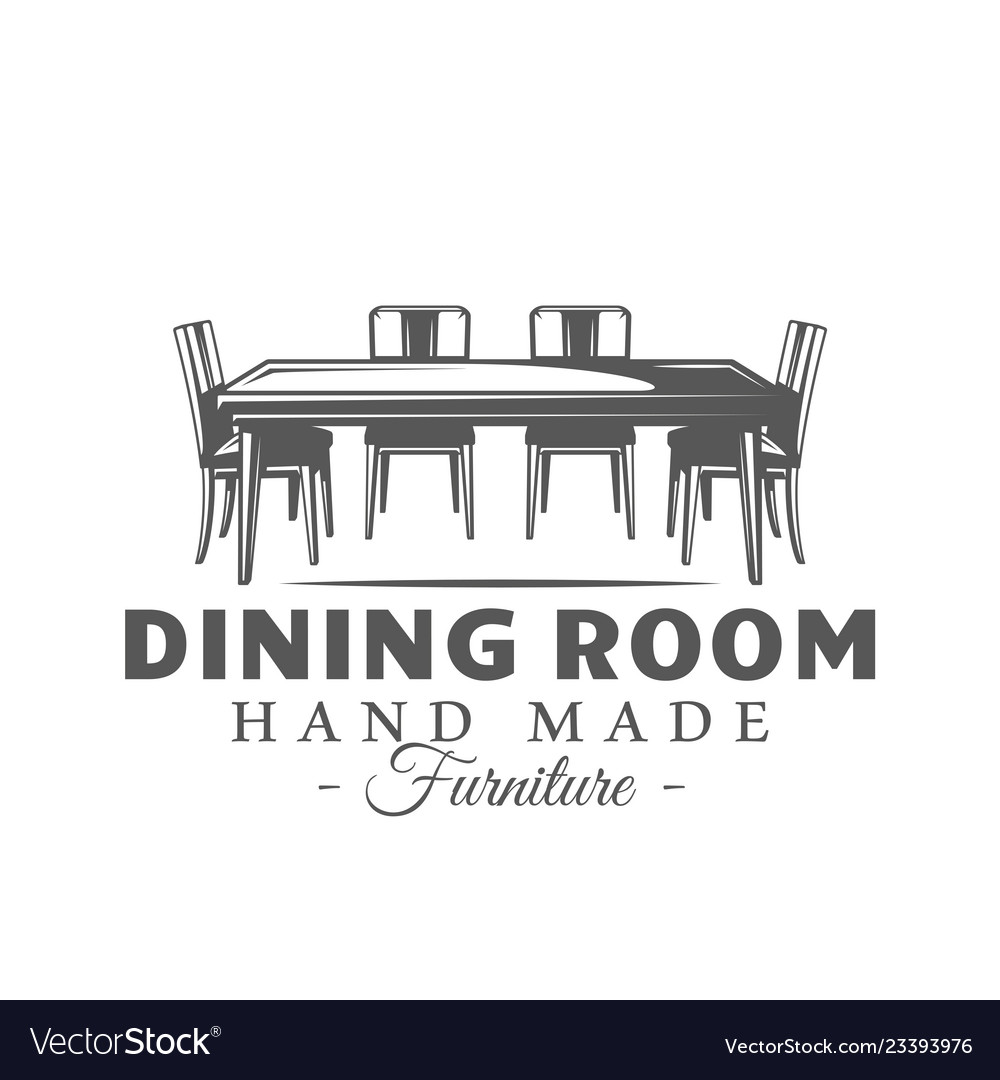 Furniture label isolated on white background