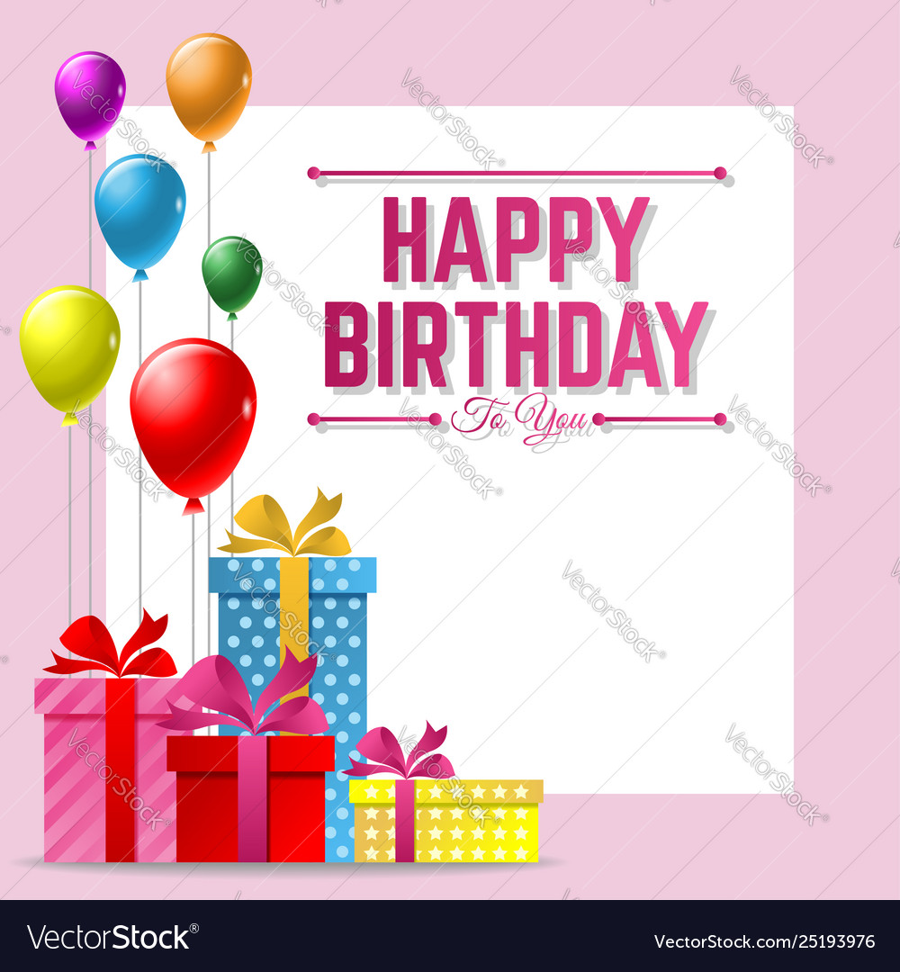 Sensational Happy Birthday Greeting Card Background With Vector Image Funny Birthday Cards Online Fluifree Goldxyz