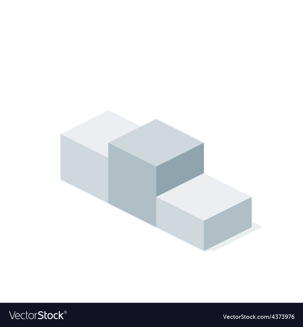 Isometric First Place Podium vector image