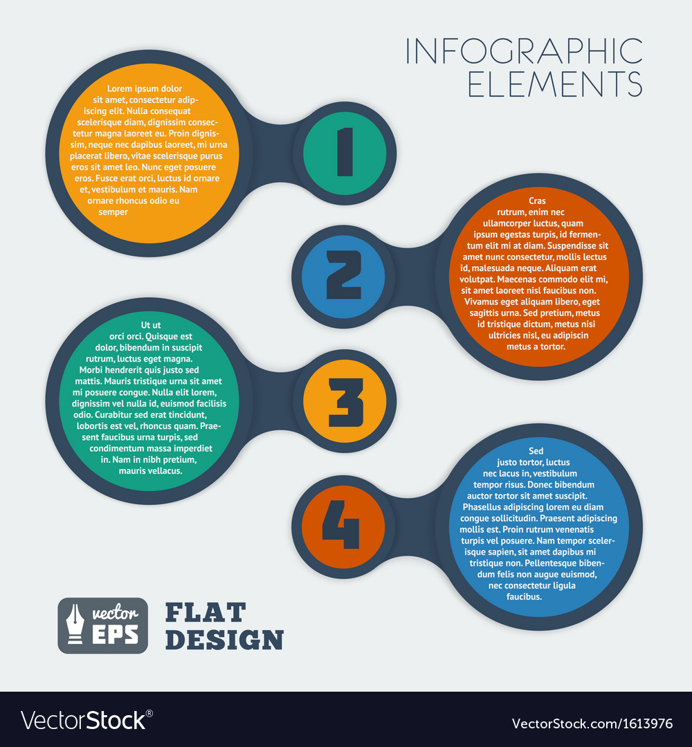 Metaball flat infographic 2