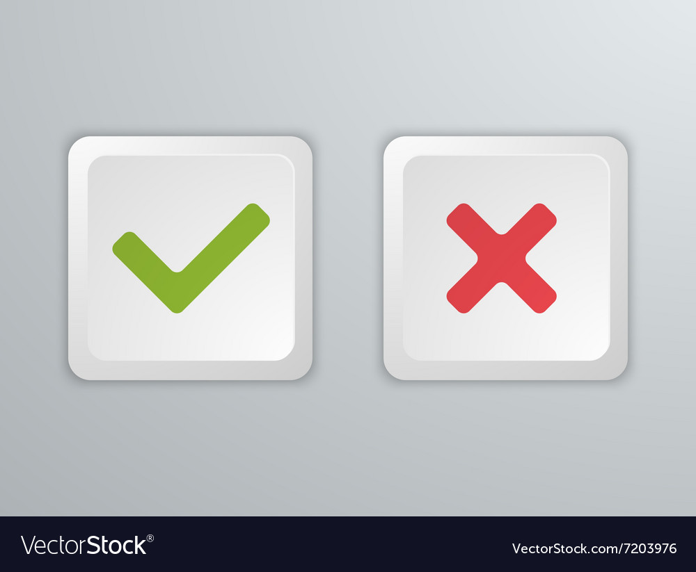 No and Yes Computer keyboard buttons Icons