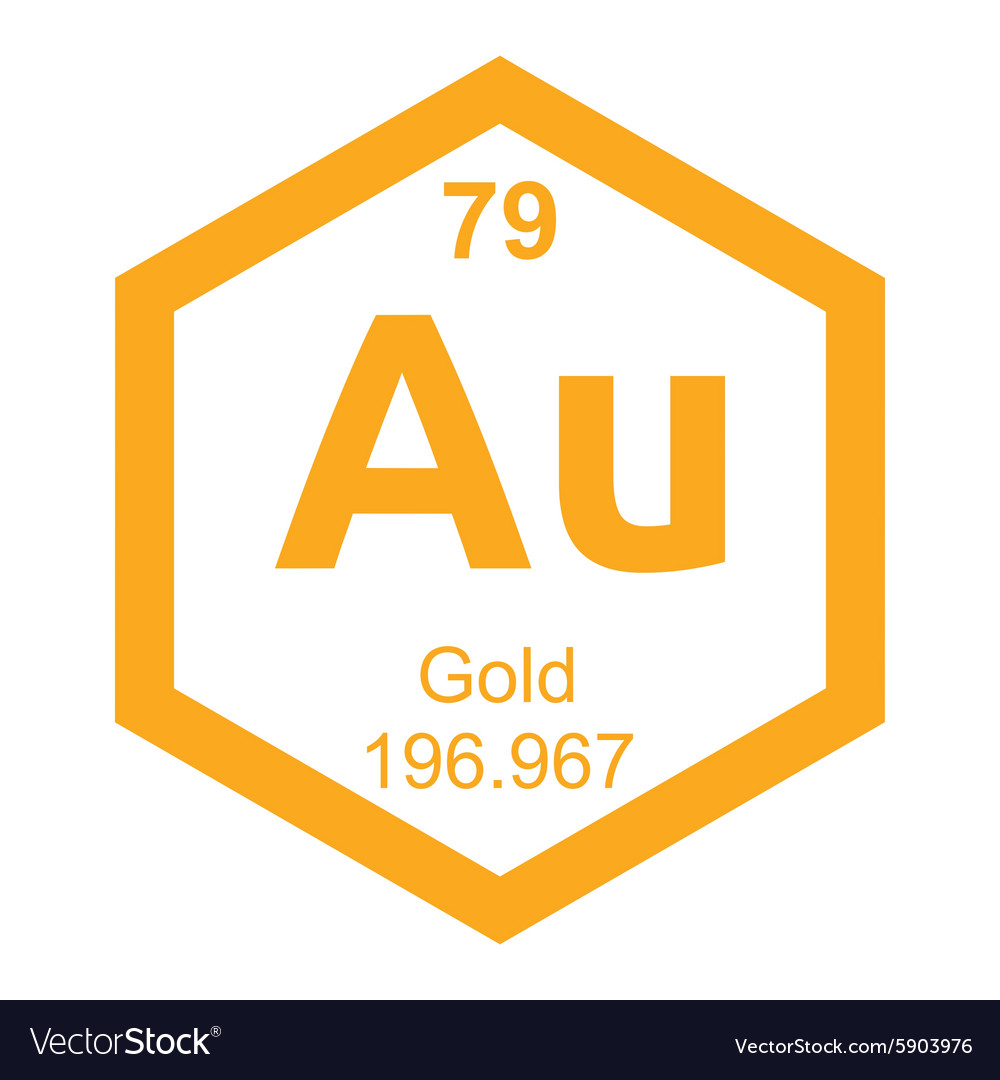 Periodic table gold royalty free vector image vectorstock periodic table gold vector image urtaz Image collections