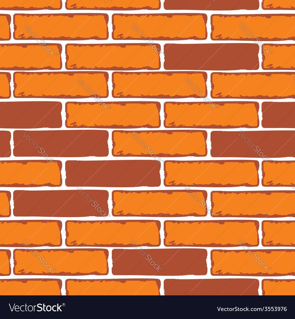 Seamless Patterns Of Brick Walls Stock Vector Image