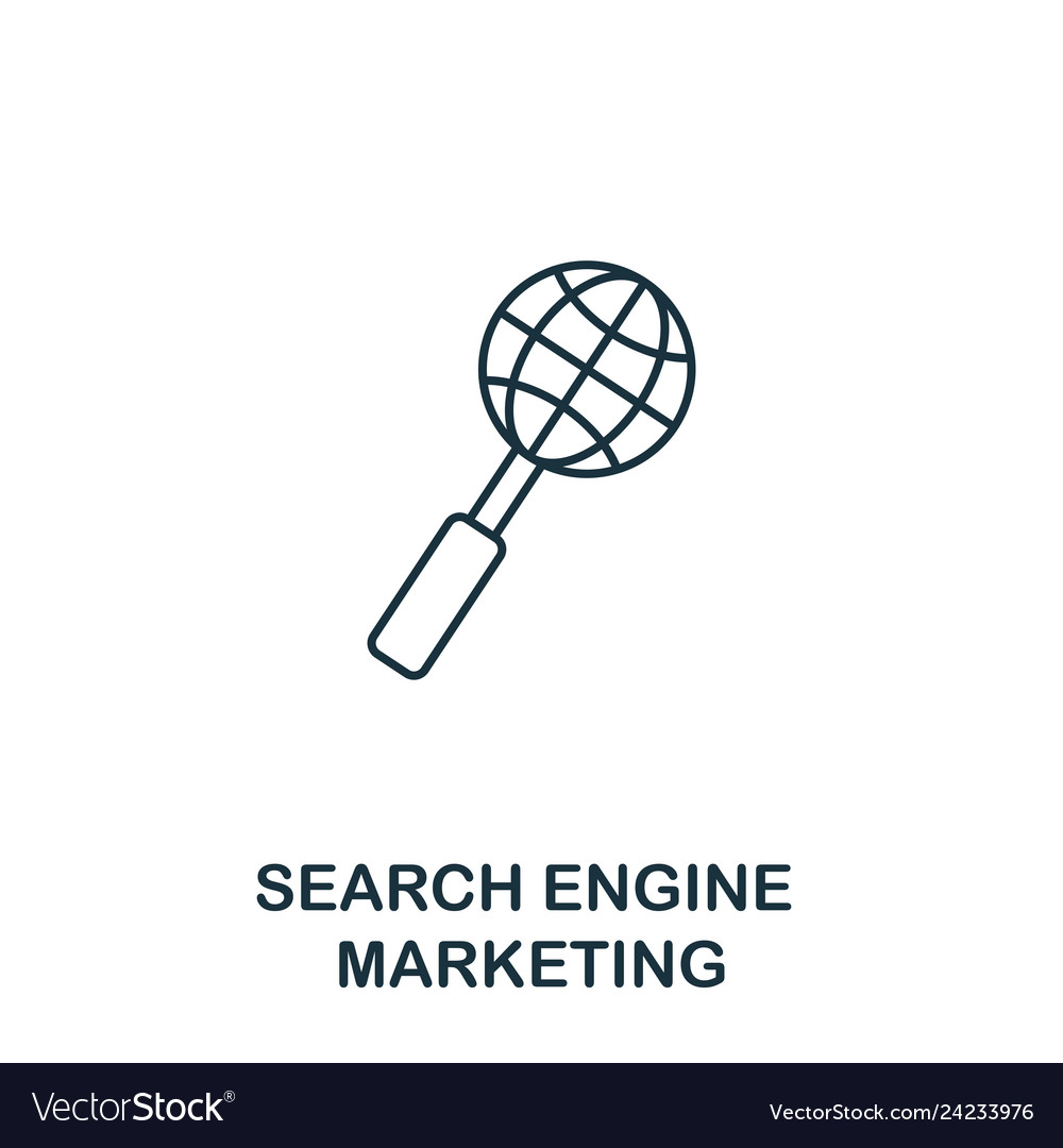 Search engine marketing icon thin line style
