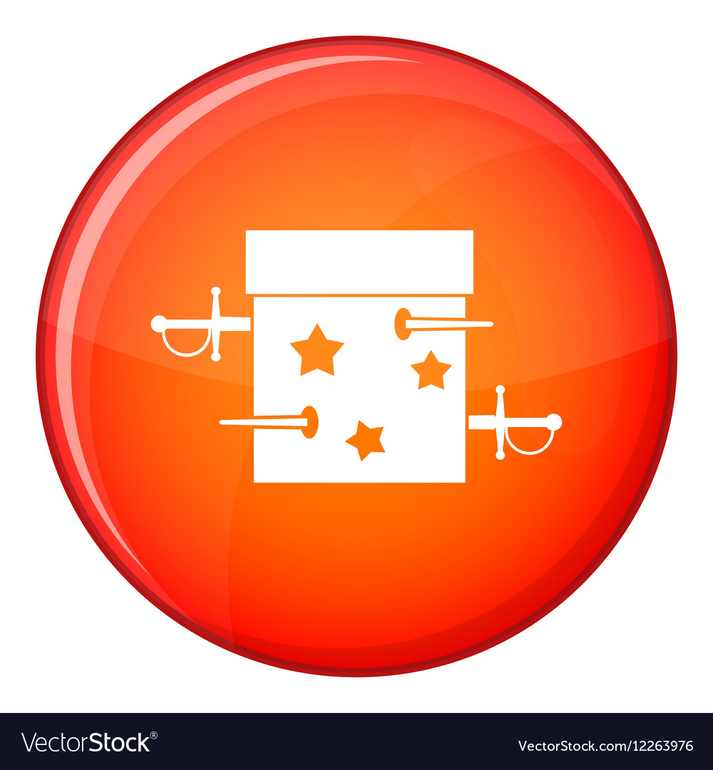 Sword box icon flat style vector image