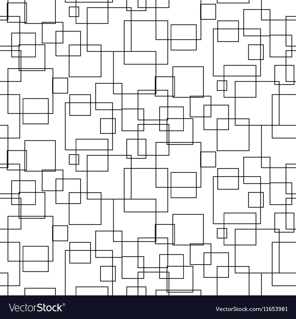 Abstract geometric shapes seamless pattern