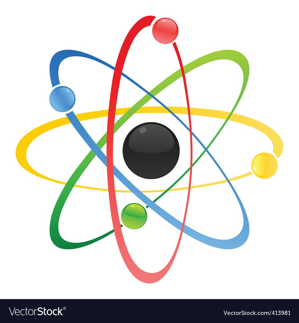 atom royalty free vector image vectorstock