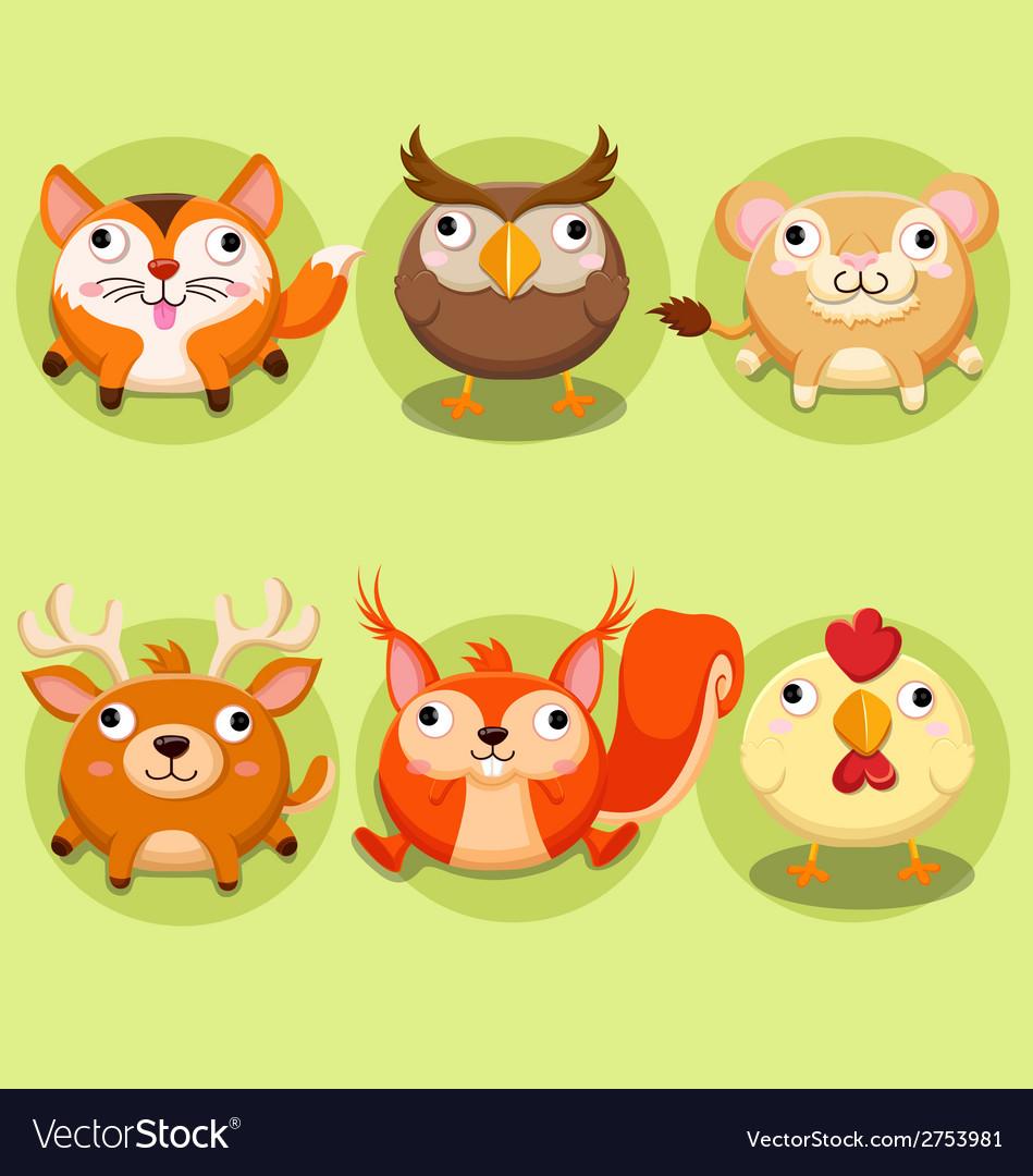 Cute animals Icon set