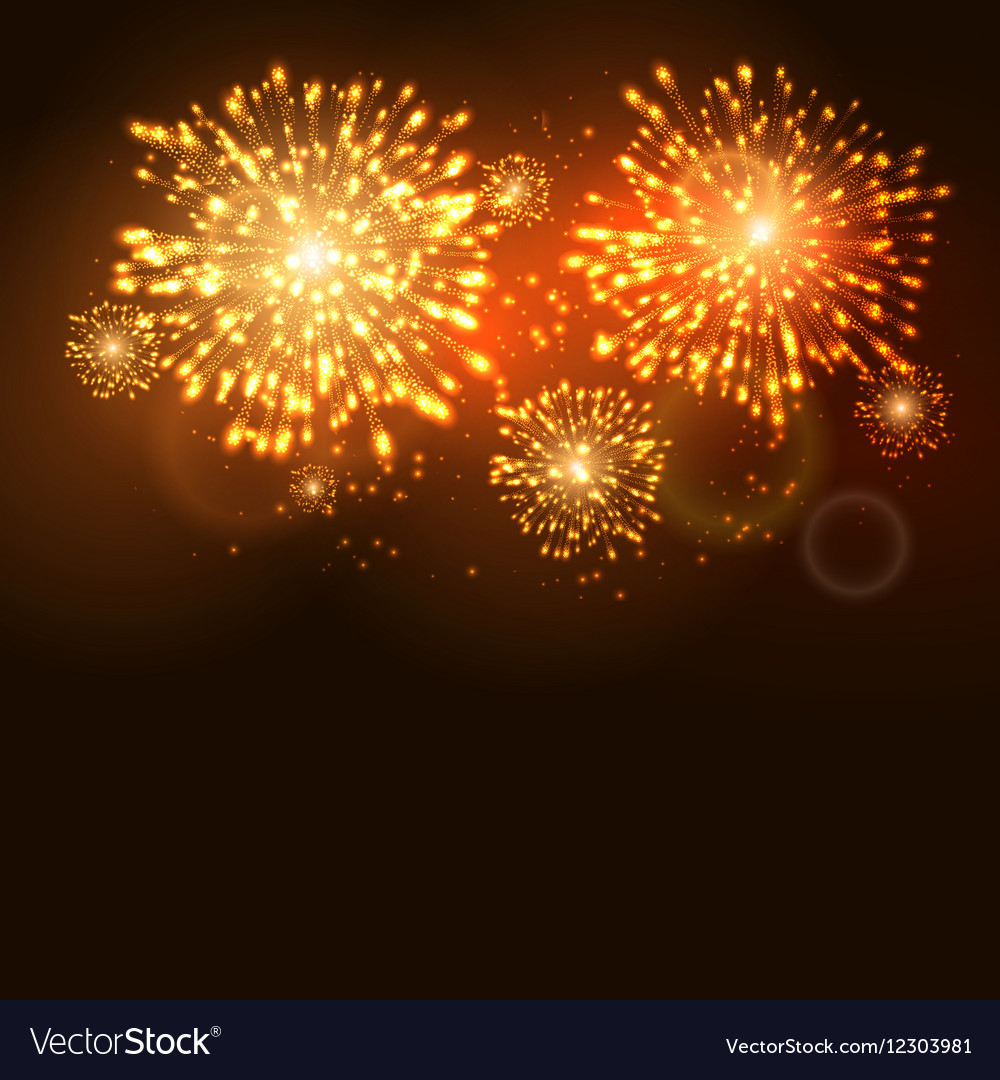 firework new year holiday celebration template vector image