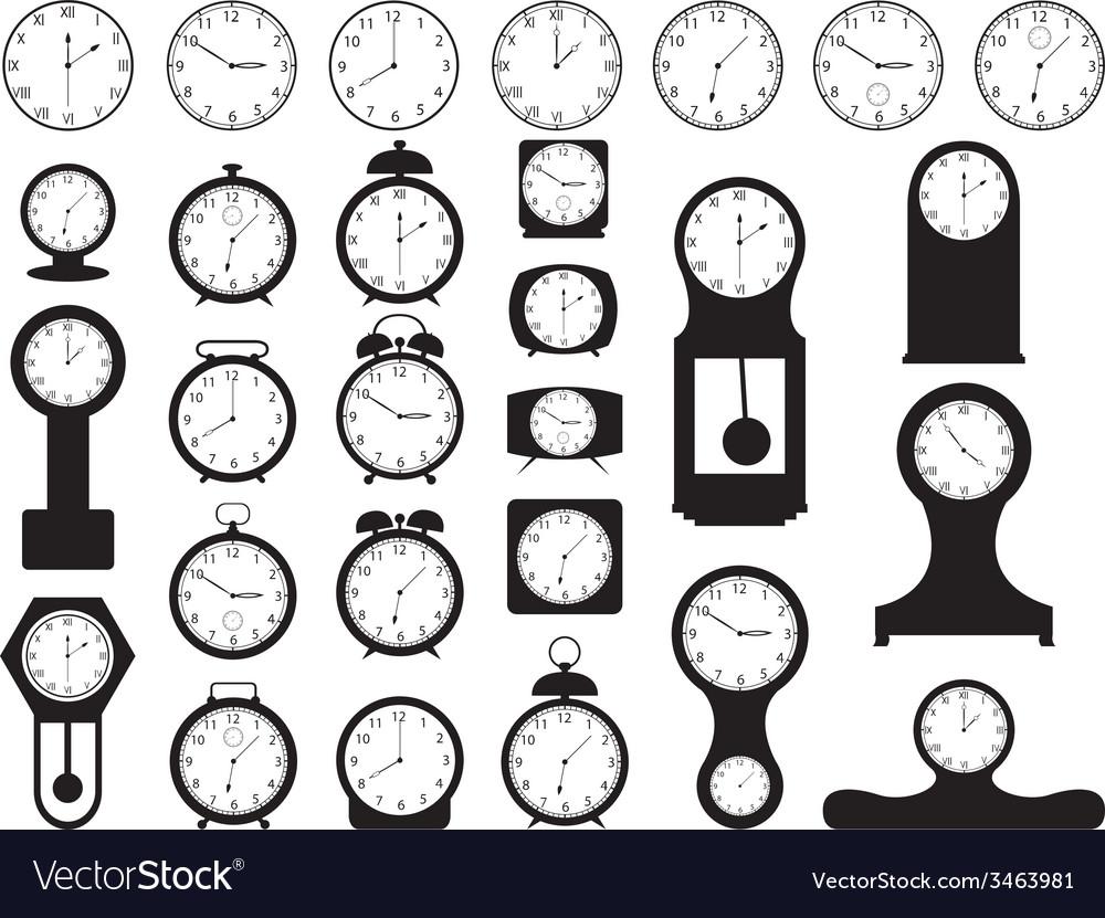 House clocks vector image