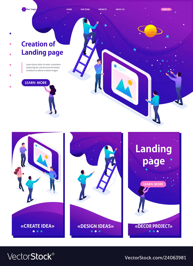 Isometric development and creation of a website