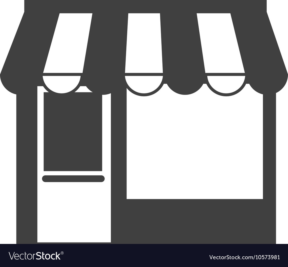 Little store building vector image