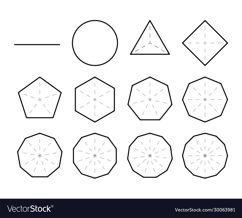 Set geometric shapes polygons set polygon vector