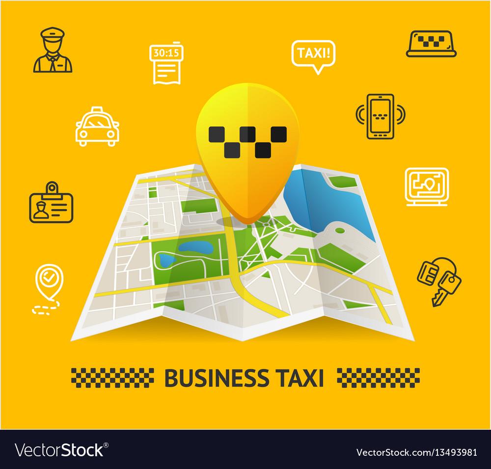 Taxi services concept