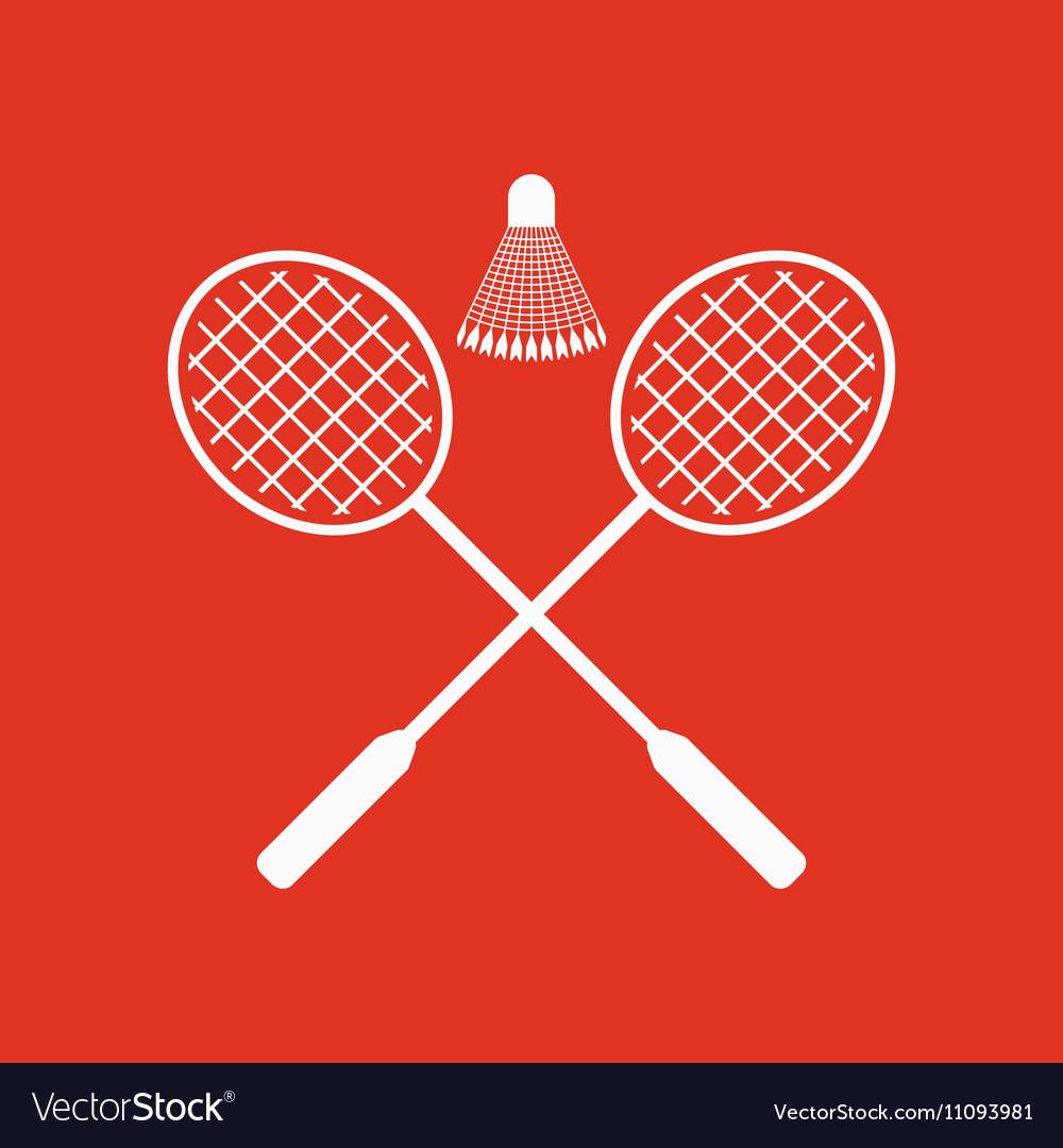 The badminton icon Sport symbol Flat