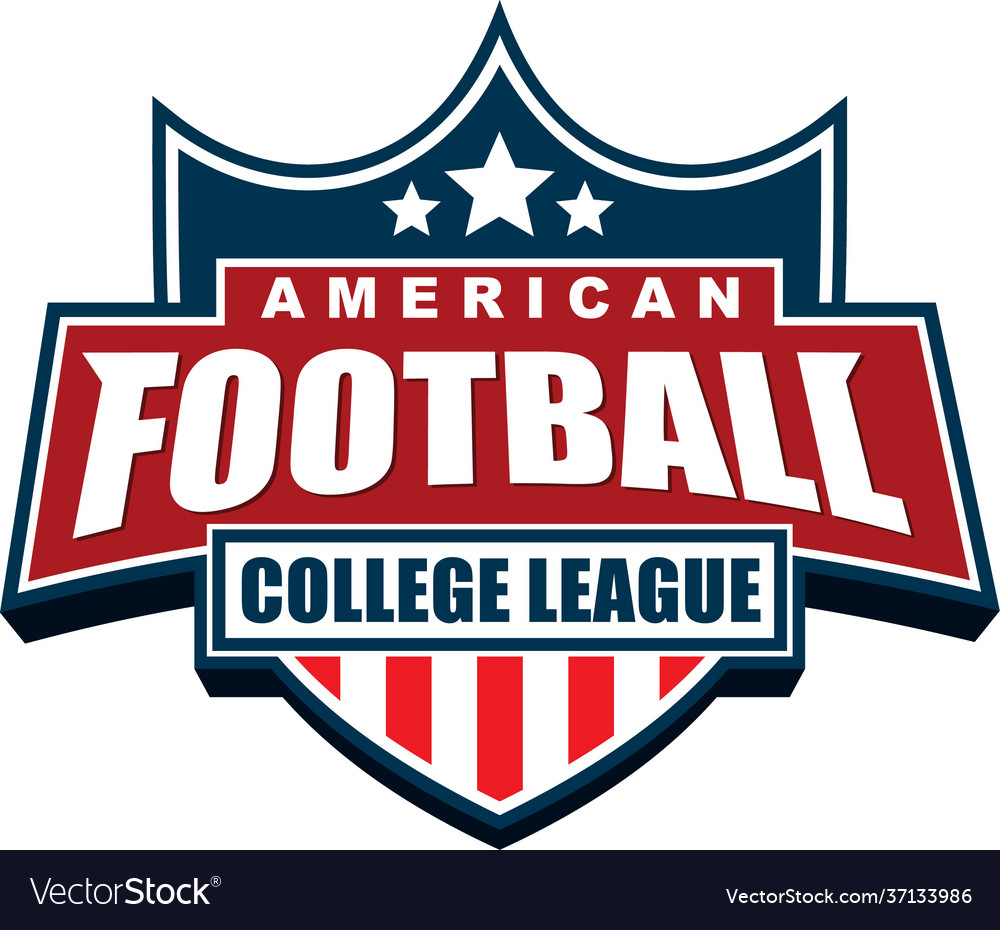 American football college league badge logo design