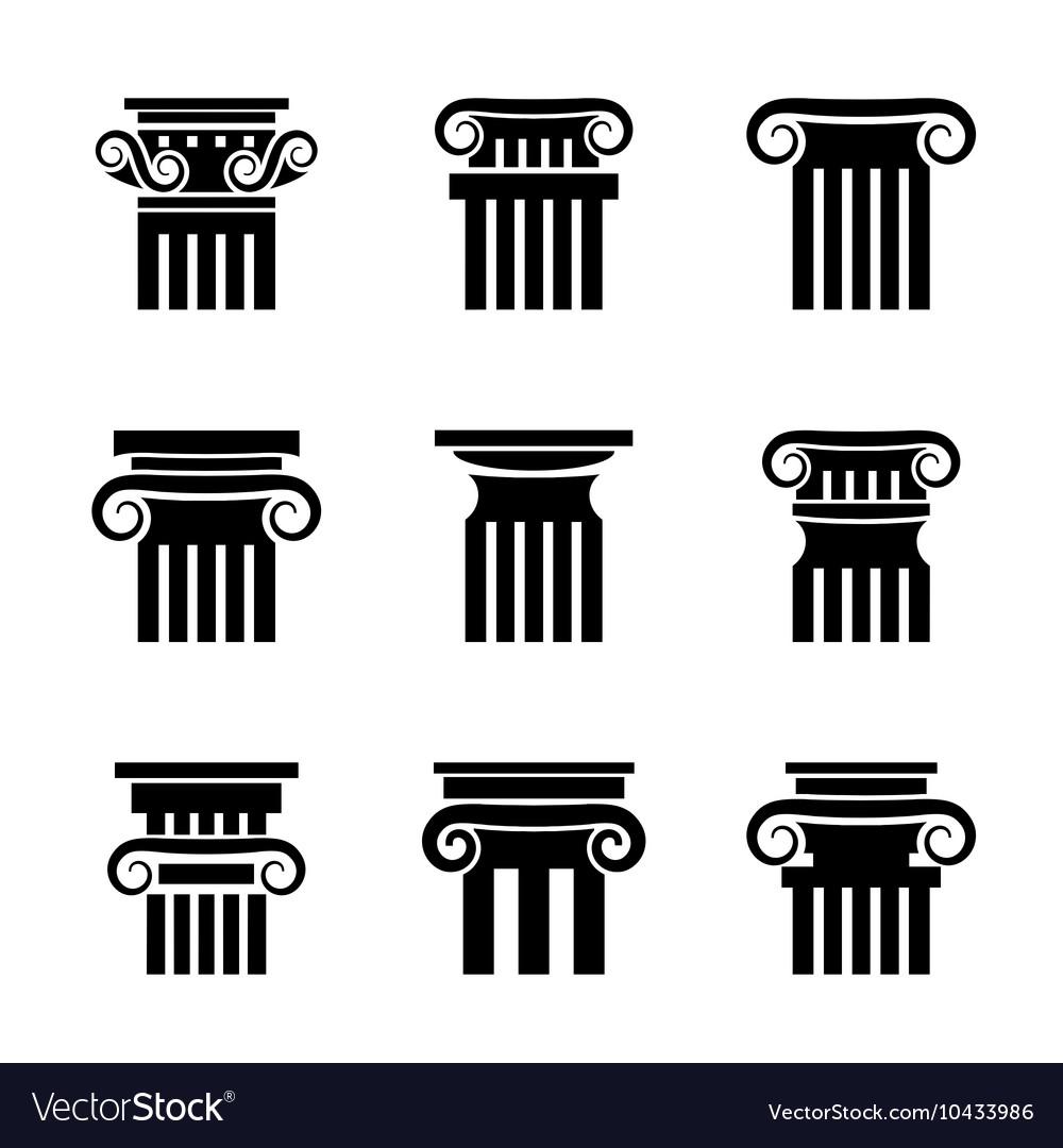 Ancient columns icons