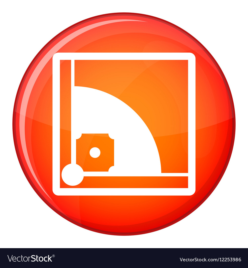 Baseball field icon flat style