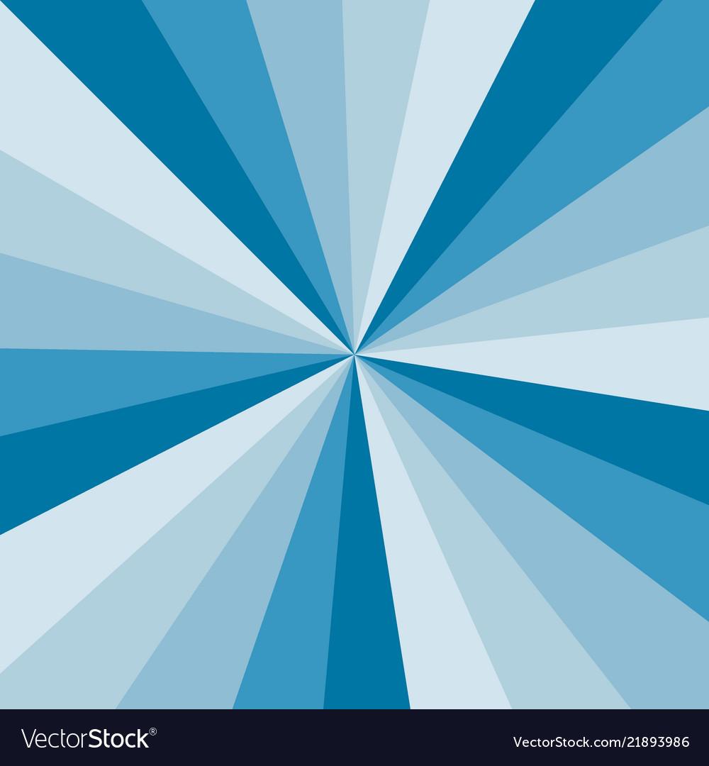 Blue sunburst background pattern of swirled