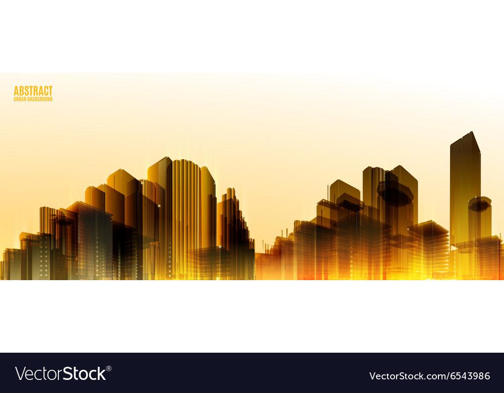 City Skylines Light night background Panorama