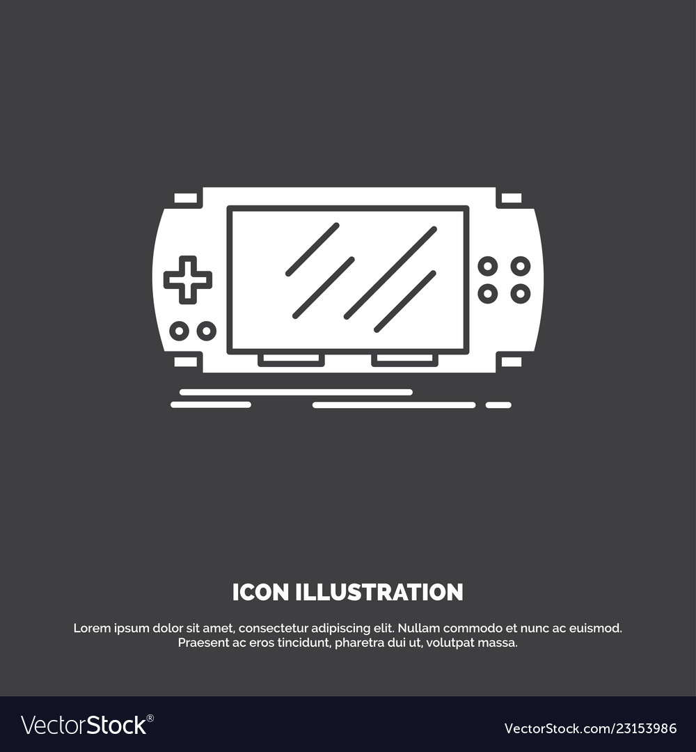 Console device game gaming psp icon glyph symbol