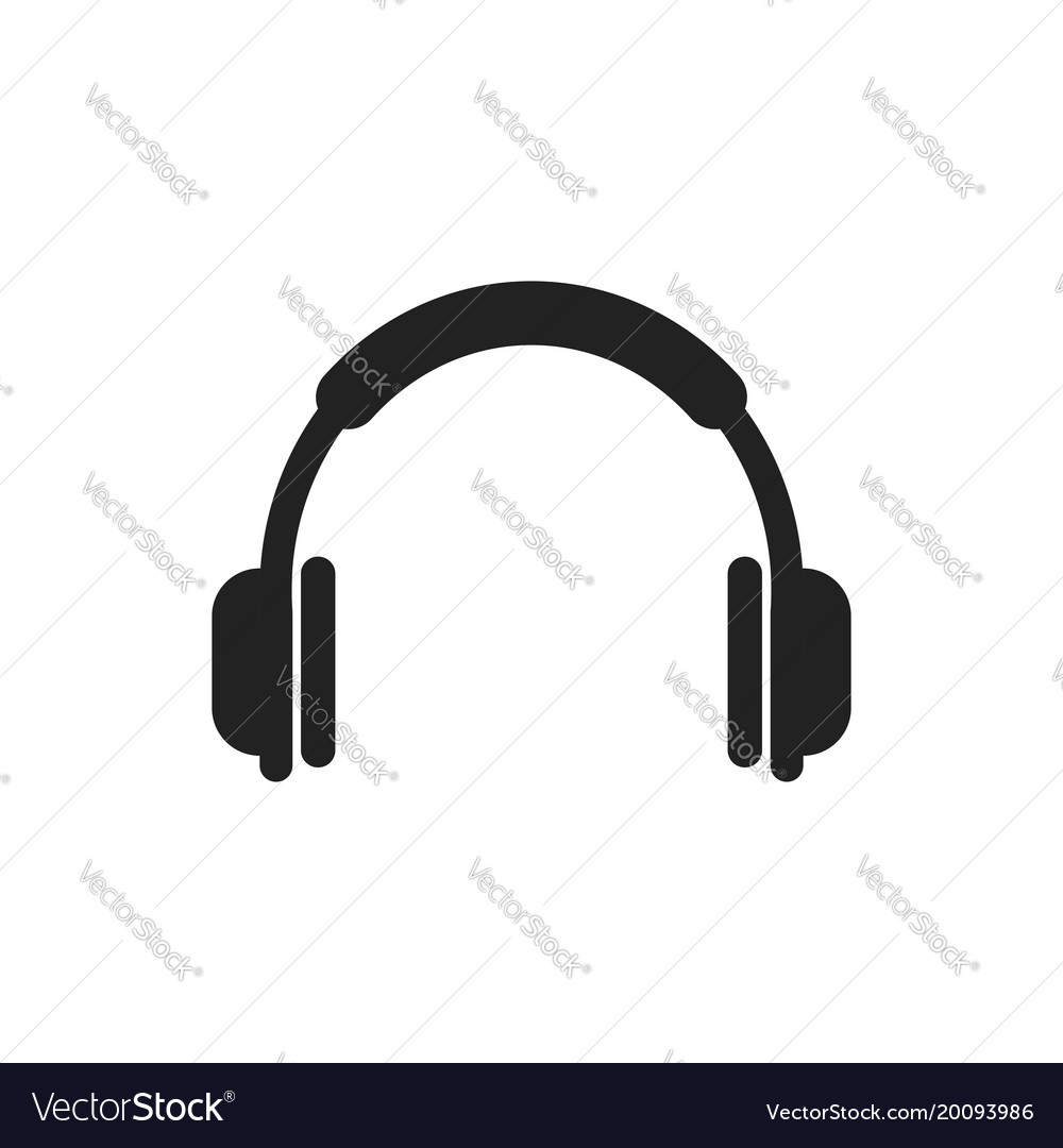 headphone icon earphone headset sign royalty free vector rh vectorstock com headphones vector free download headphones vector illustration