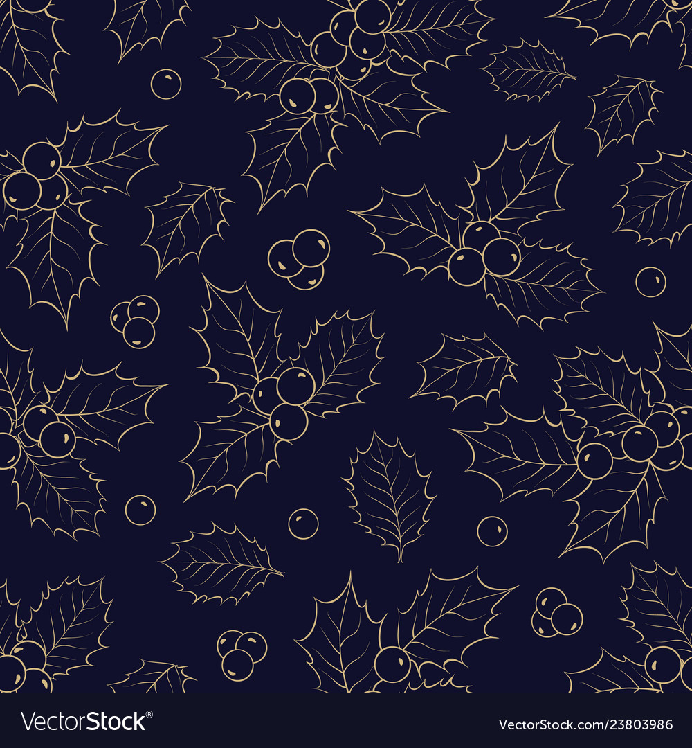 Mistletoe seamless pattern for christmas theme
