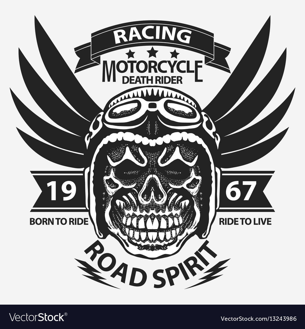 Motorcycle t-shirt graphics
