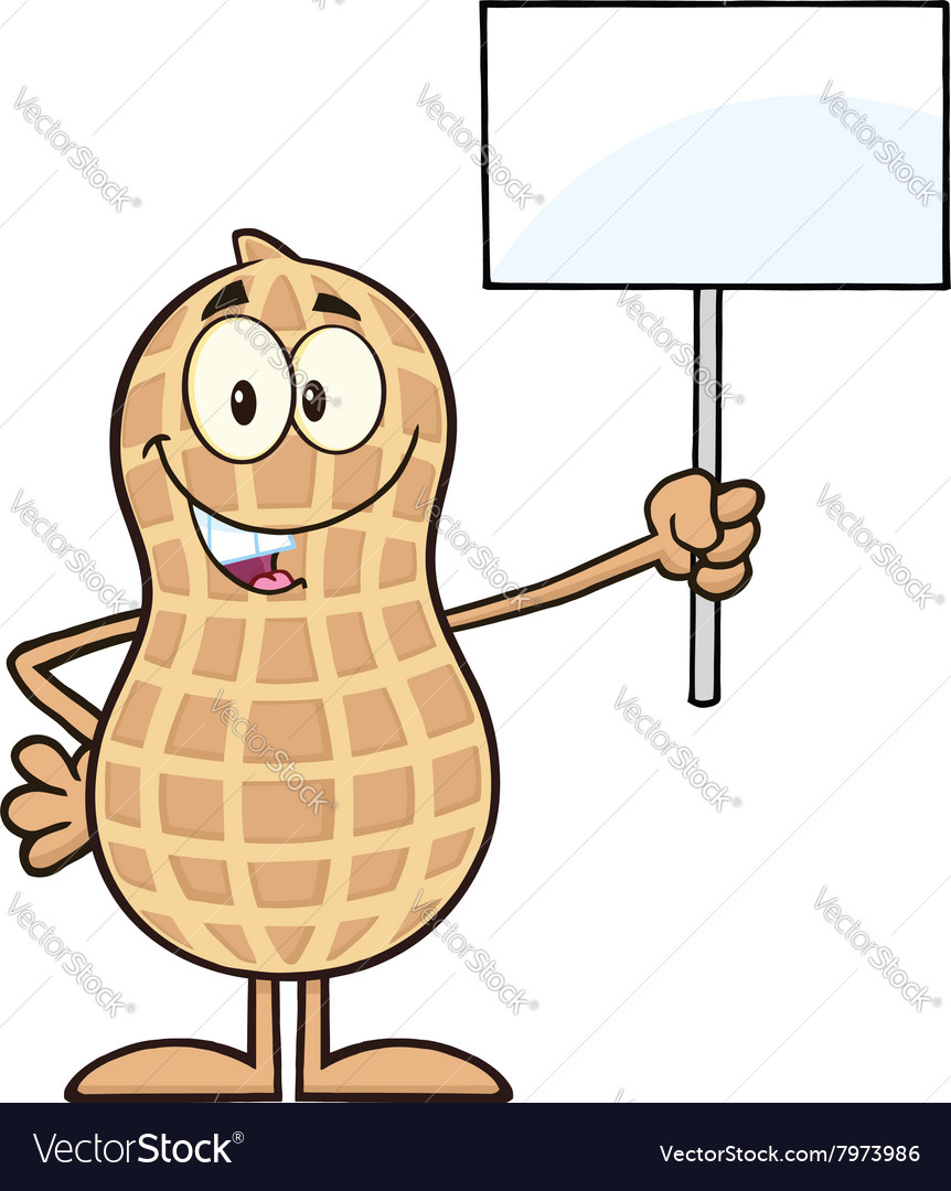 Royalty Free RF Clipart Peanut Cartoon Character Vector Image