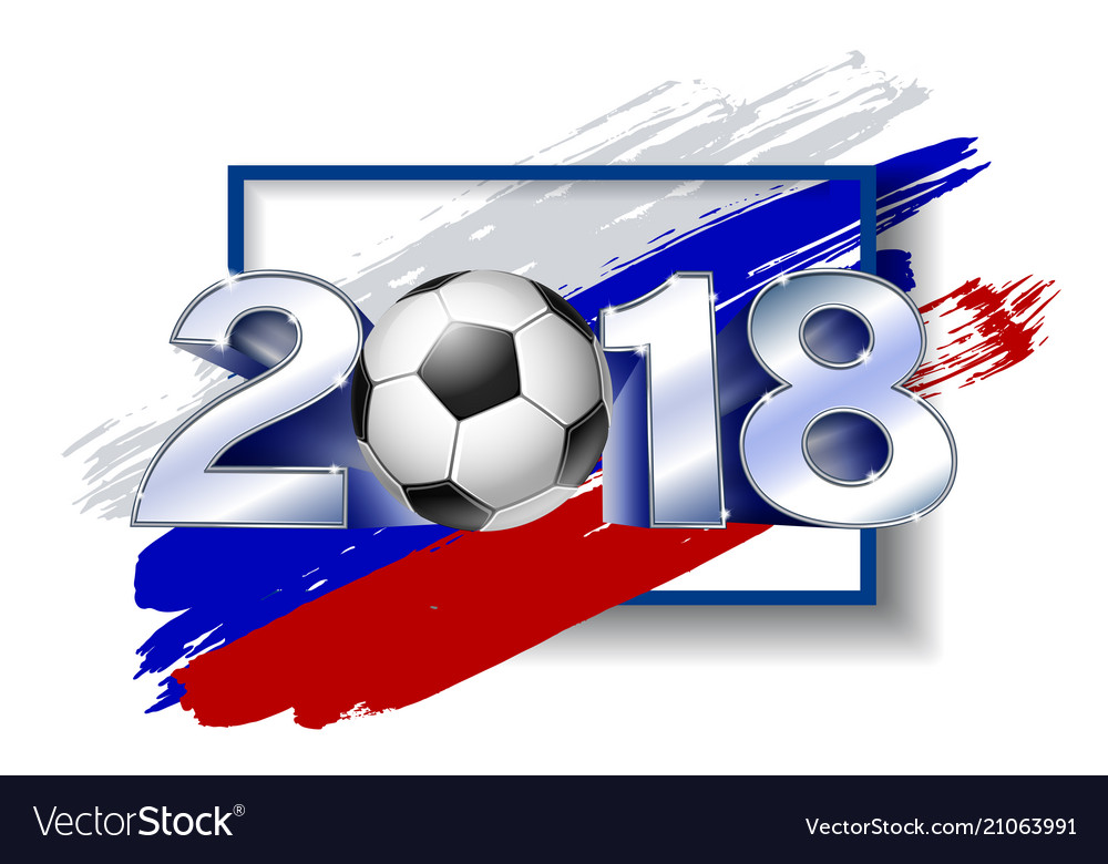2018 with soccer ball poster soccer template