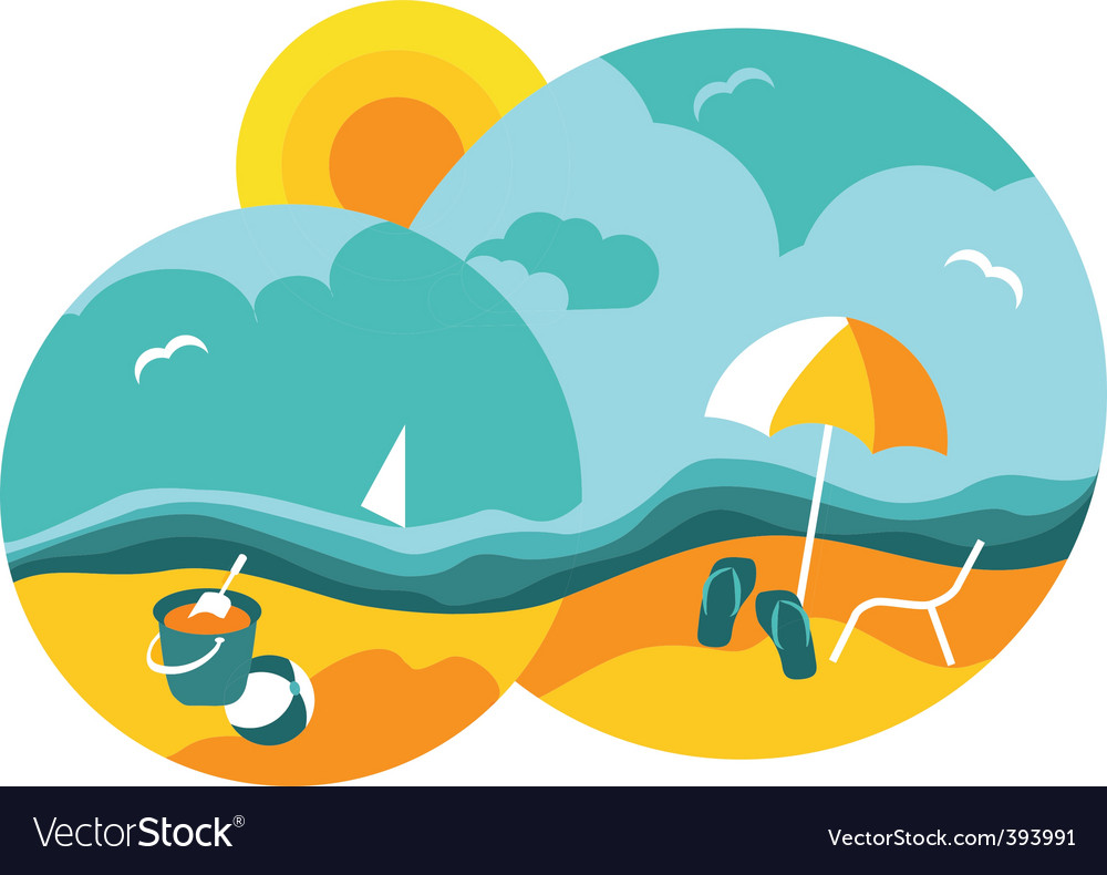 beach royalty free vector image vectorstock rh vectorstock com beach vector free download beach vector free