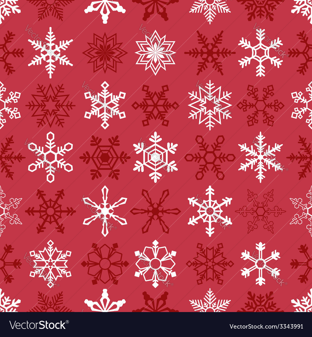 Christmas seamless background with snowflakes