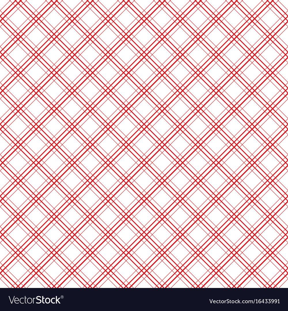 Geometric plaid diagonal line vintage seamless vector image