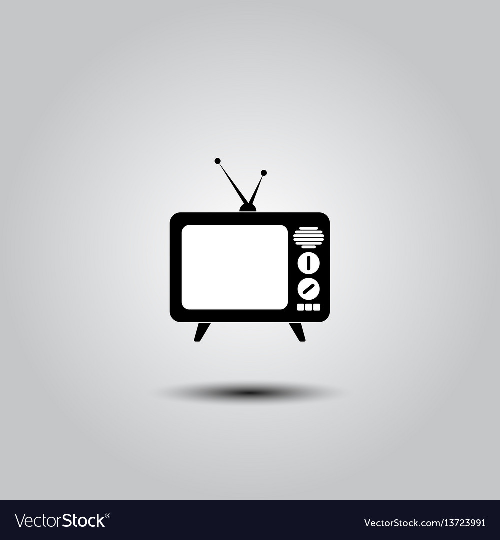 Retro tv icon vector image