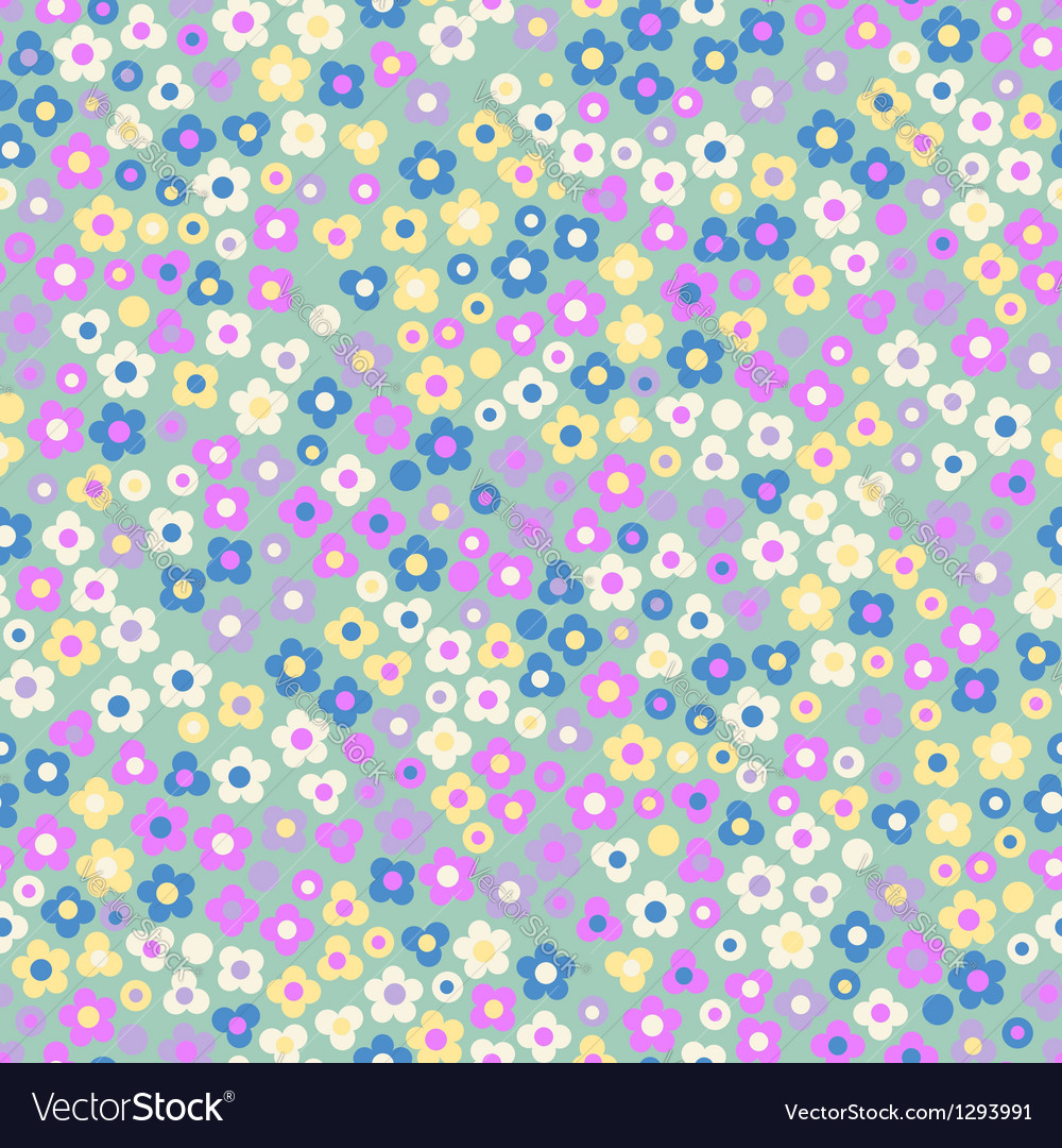 Seamless pattern displaying floral vector image