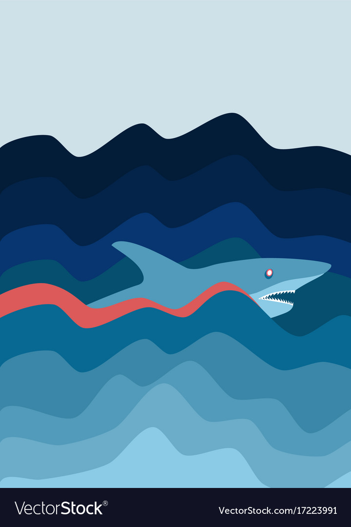 Shark attack abstract background