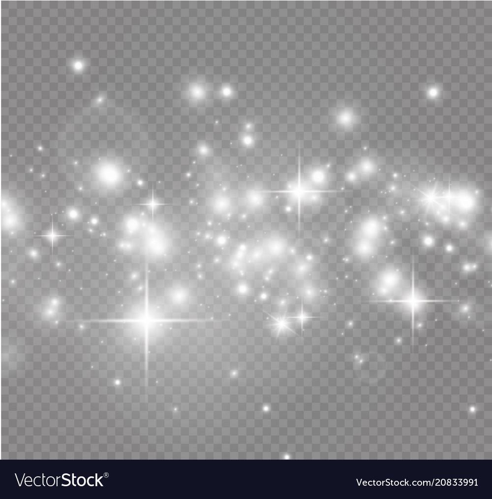 White sparks and golden stars glitter special