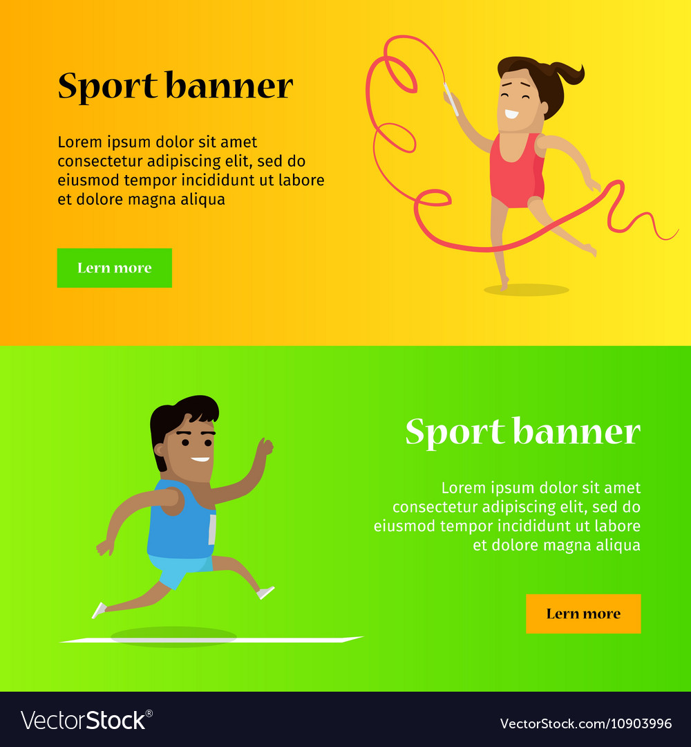 Artistic Gymnastics And Athletics Sport Template Vector Image