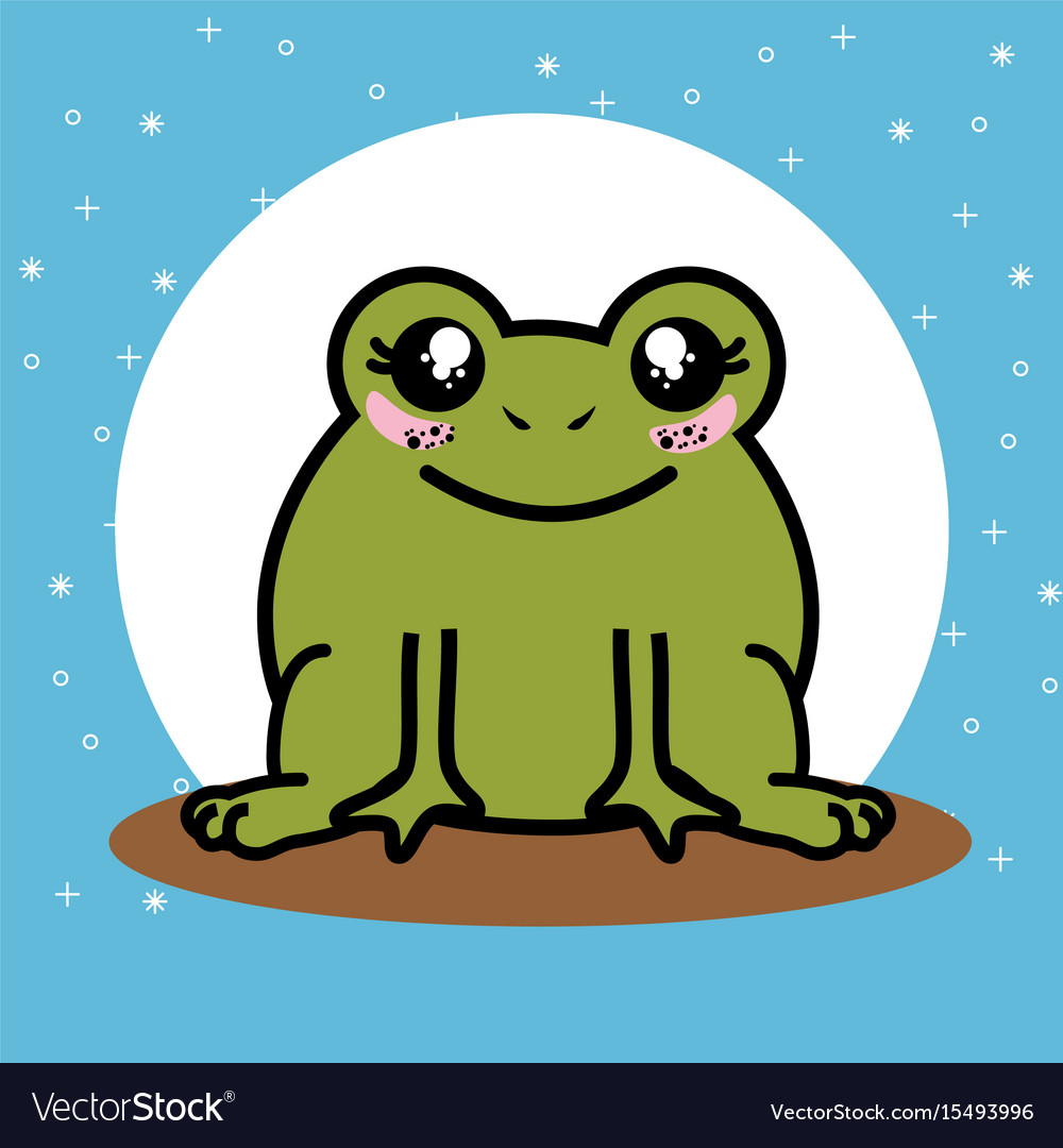 Cute and lovely frog cartoon