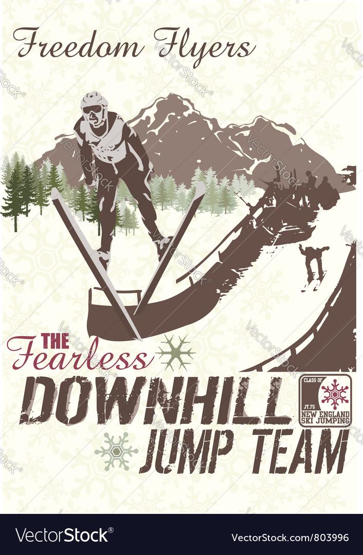 Jump hill vector image