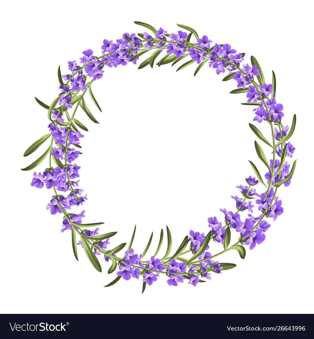 Lavender elegant wreath