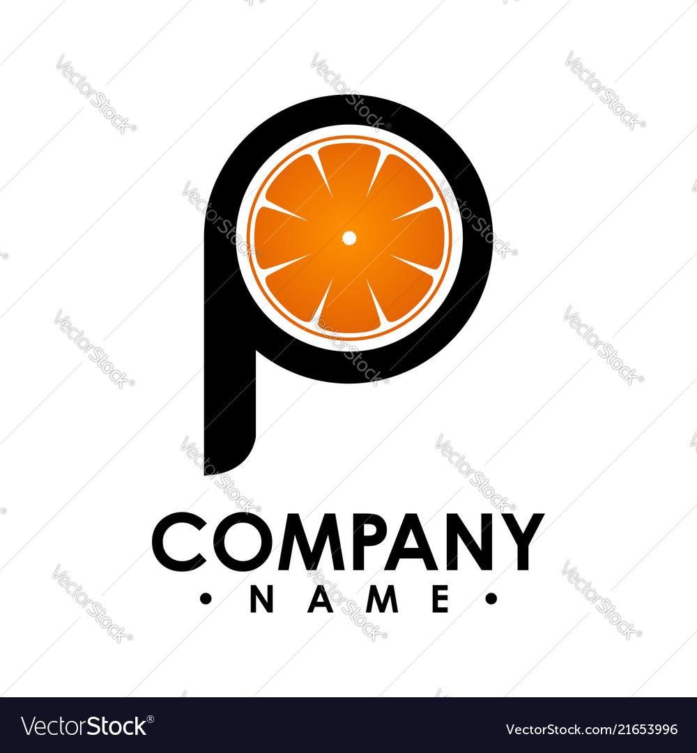 P letter logo design logo set letter logo