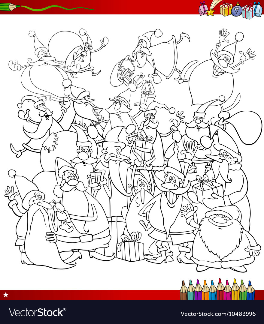 santa bag coloring page vector images 56