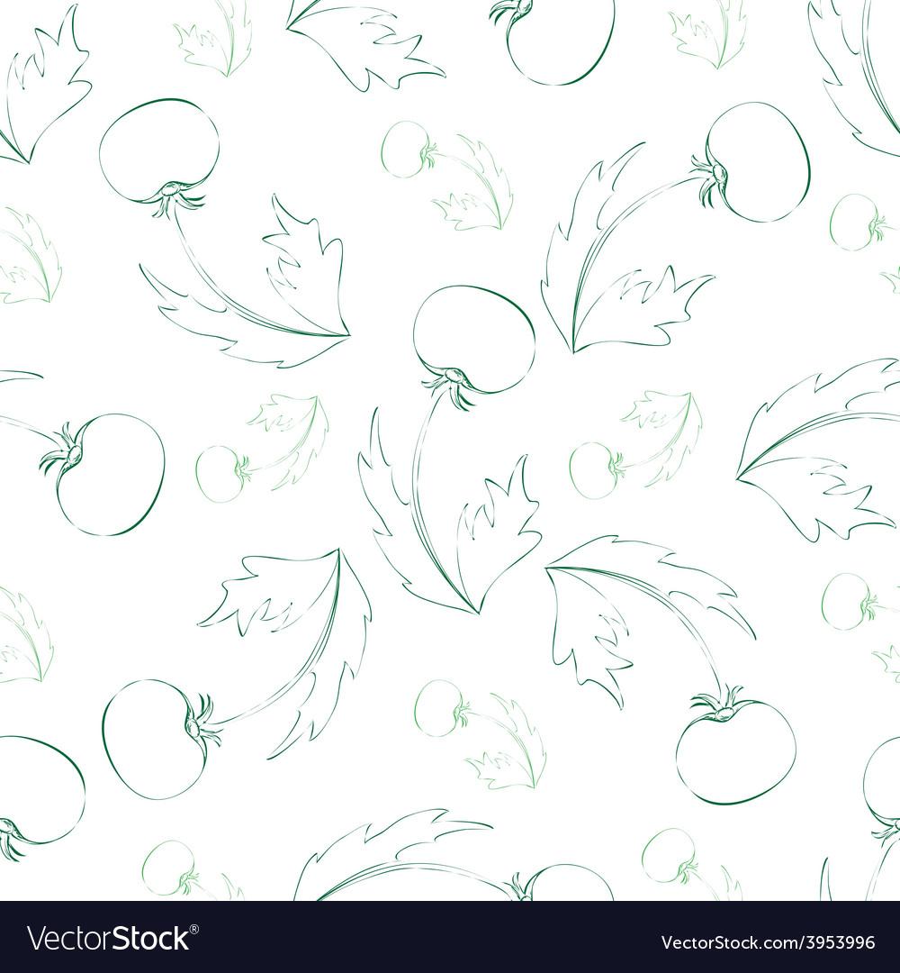 Seamless pattern of sketch dandelion