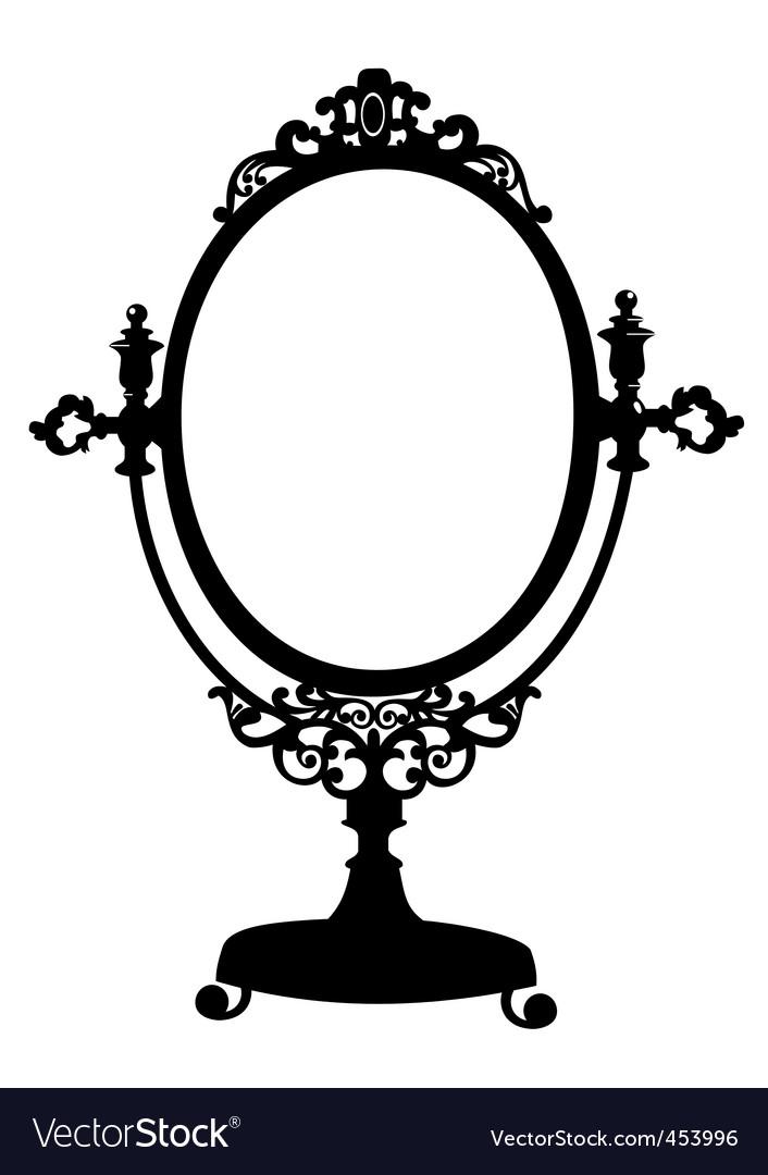 Silhouette of antique mirror