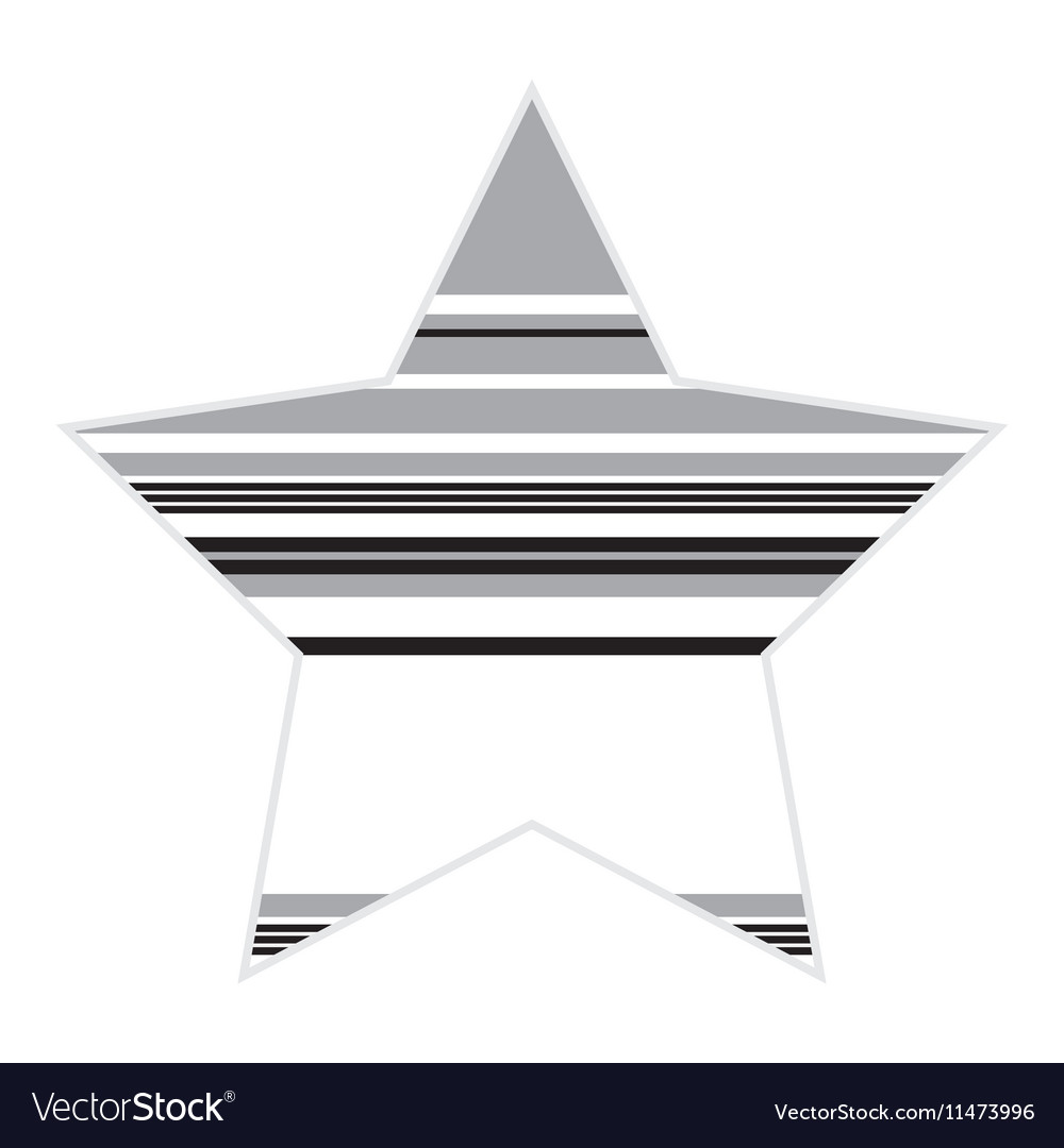 Striped Black And White Star Icon