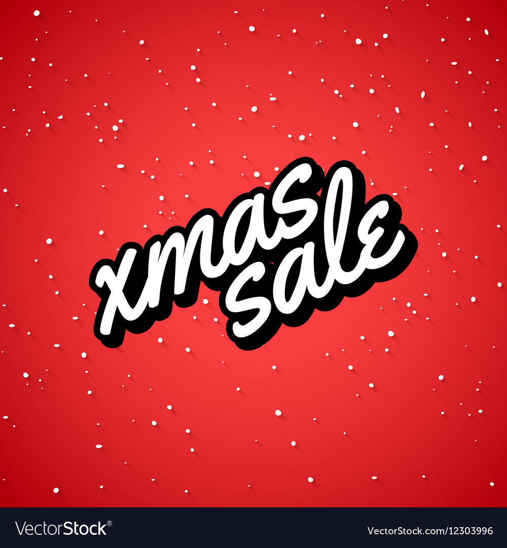Xmas Sale Christmas sale card with lettering