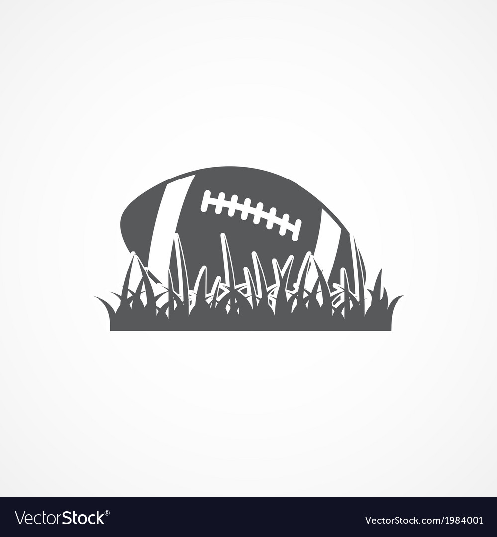 American football icon vector image