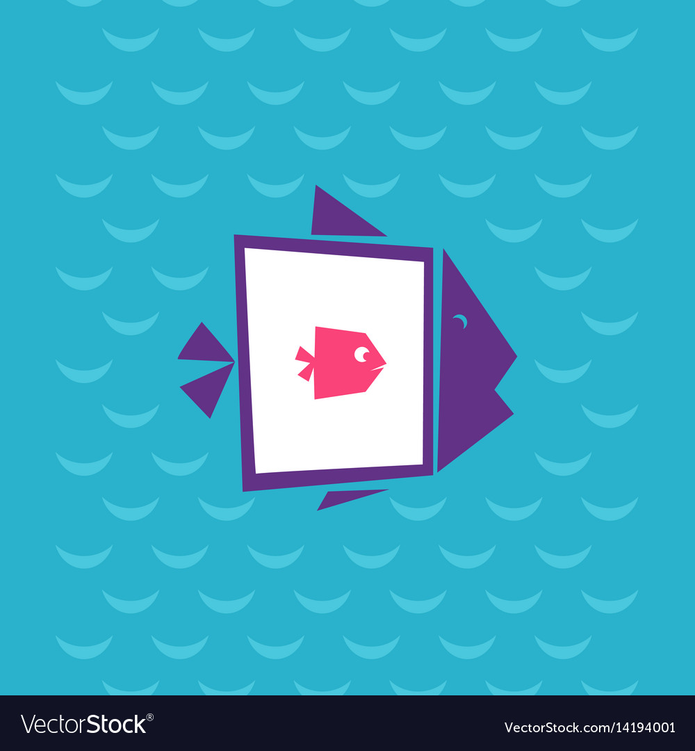 Big fish ate the small vector image