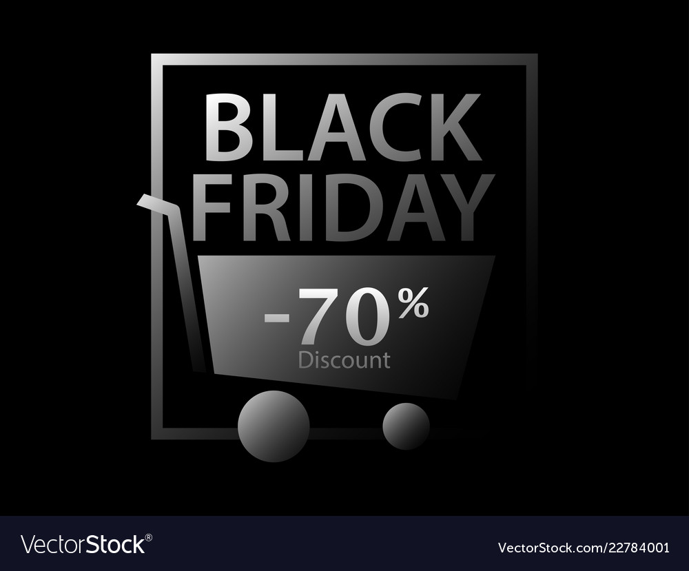 Black friday 70 percent discount promotional